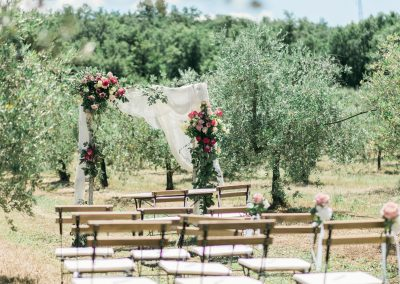 wedding in the olive trees,Le Bolli Siena
